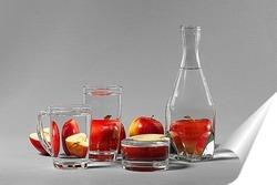 Постер Яблоки за стеклом