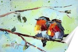 Постер Райские птички