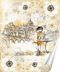 Постер Путешествие по Италии