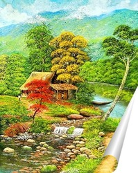 Постер Домик возле леса