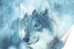 Постер Волк и лес