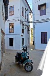 Постер улочка в старом городе