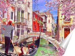 Постер Красочные каналы Венеции
