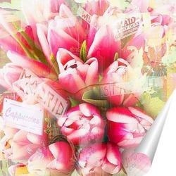 Постер Красочные тюльпаны