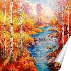 Постер Березы у ручья
