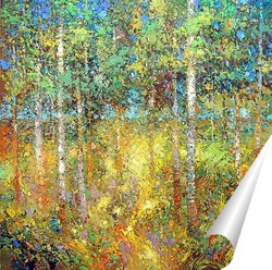 Постер Берёзовый лес