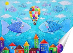 Постер Рыбы-облака