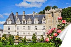 Постер Замок Вилландри летним сонечным днем в цвету, долина Луары, Франция