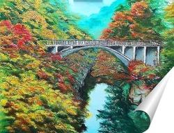 Постер Мост над рекой