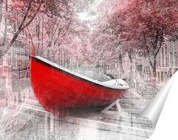 Постер Красная лодка