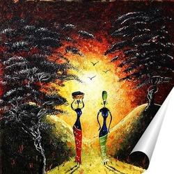 Постер Африка, Две грации