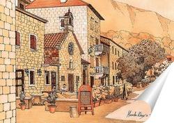 Постер Улица в Которе. Черногория