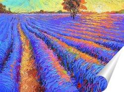 Постер Лавандовое поле