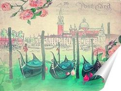Постер Гондолы Венеции