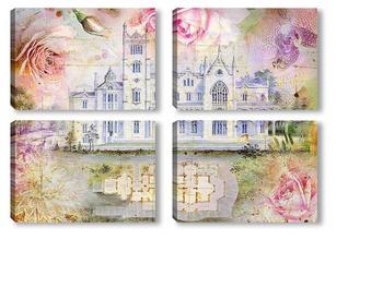Модульная картина Дворец в цветах