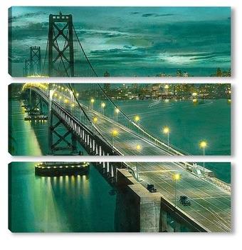 Модульная картина Сан франциско, мост.