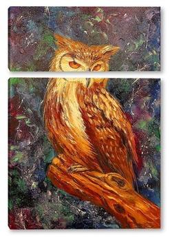 Модульная картина Мудрая сова