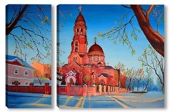 Модульная картина Вид на церковь Озерянской чудотворной иконы Божией Матери