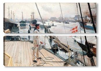 Модульная картина Из порта Копенгаген