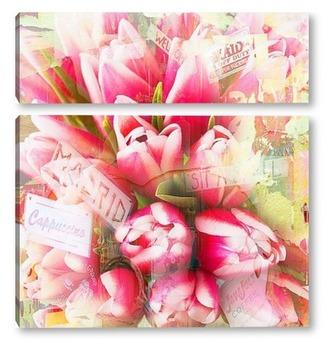 Модульная картина Красочные тюльпаны