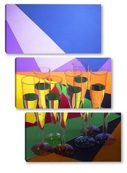 Модульная картина Геометрия цвета - 4
