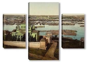 Модульная картина Благовещенский монастырь, Нижний Новгород, 1890-1900 гг