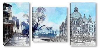 Модульная картина Акварельная Венеция