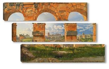 Модульная картина Взгляд через три северо-западных арки Третьего этажа Колизея