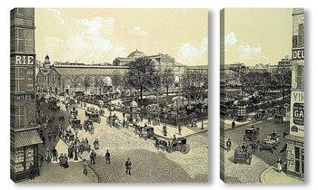 Модульная картина Площадь