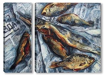 Модульная картина Натюрморт с рыбой