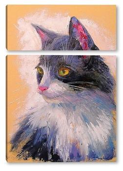 Модульная картина Любимый кот