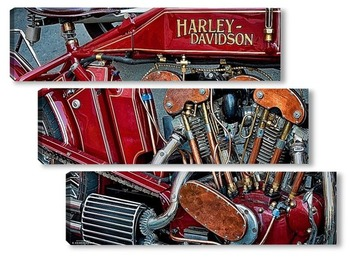 Модульная картина Урбанометрия. Harley-Davidson. Oldstyle.