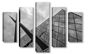 Модульная картина Геометрия города