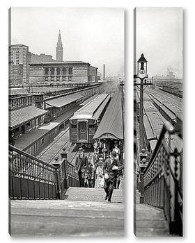 Модульная картина Прибытие из пригородов, 1907