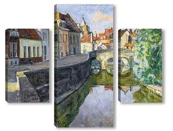 Модульная картина Канал в Брюгге.