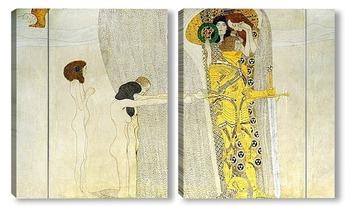 Модульная картина Бетховенский фриз, Страдания человечества