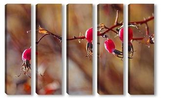 Модульная картина Лесные ягоды, лесные кармельки