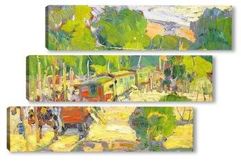 Модульная картина Цыганский поезд