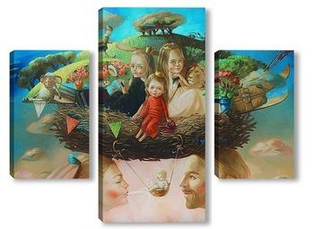 Модульная картина Семейное гнездо