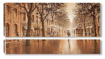 Модульная картина  Бульвары Барселоны