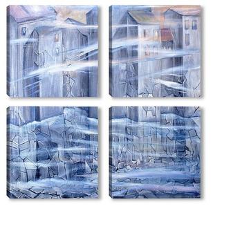 Модульная картина Замерзающий город