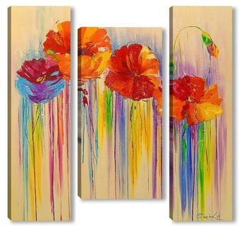 Модульная картина Абстракция цветов