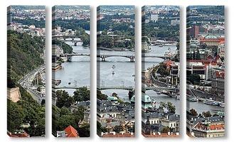 Модульная картина Пражские мосты