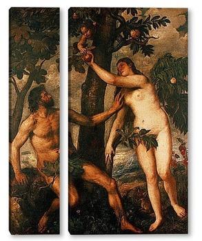 Модульная картина Грехопадение.Около 1570.