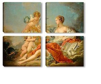 Модульная картина Аллегория музыкального искусства (1764)