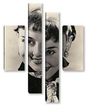 Модульная картина Одри Хепберн