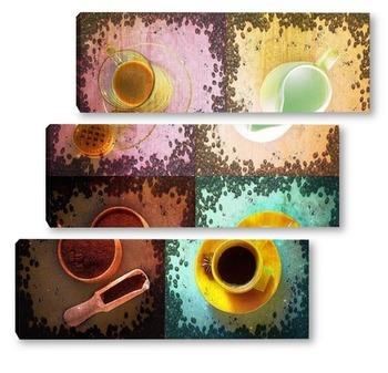 Модульная картина Кофейный набор