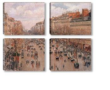 Модульная картина Бульвар Монмартр