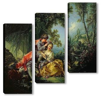 Модульная картина Четыре времени года. Весна (1755)