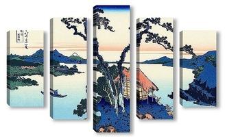 Модульная картина Озеро Сувалки в провинции Синано